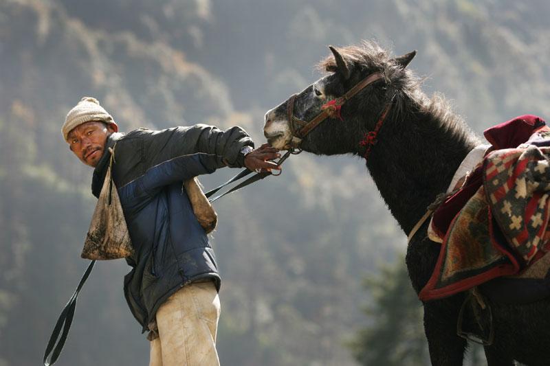 Sébastien Larose au Népal