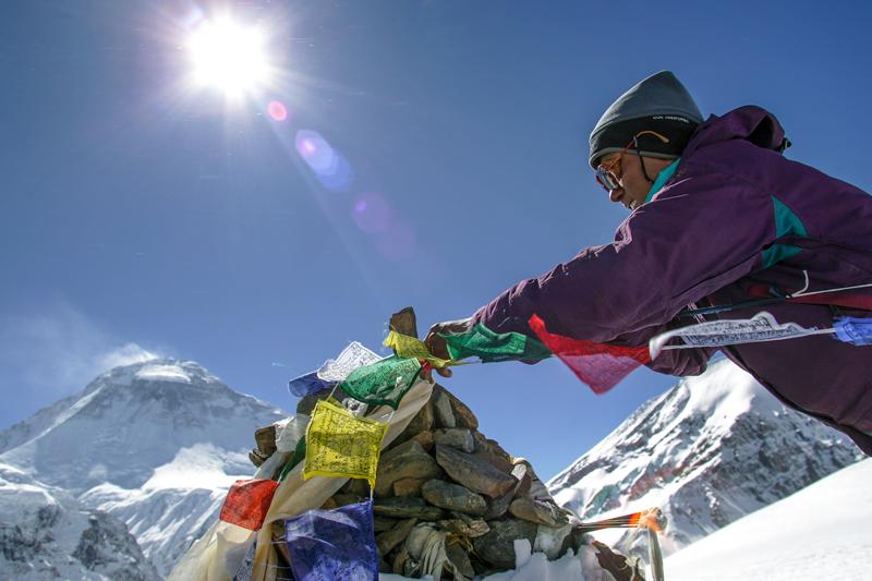 Sommet au Népal